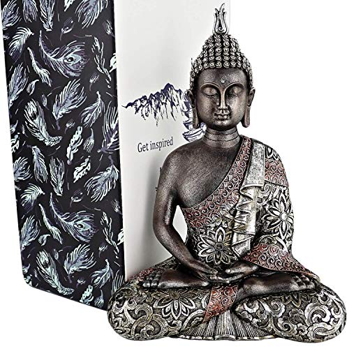 25DOL Buddha Statues for Home. 10.3' Buddha Statue (The Final Meditation). Collectibles and Figurines, Meditation Decor, Spiritual Living Room Decor, Yoga Zen Decor, Hindu and East Asian Décor