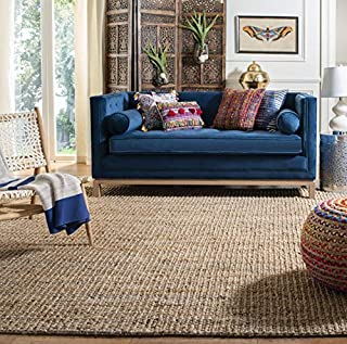 Safavieh Natural Fiber Collection NF447A Hand-Woven 0.5-inch Thick Chunky Textured Jute Area Rug, 6' x 9' (B00AYOTDTG) | Amazon price tracker / tracking, Amazon price history charts, Amazon price watches, Amazon price drop alerts