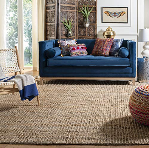 Safavieh Natural Fiber Collection NF447A Hand-woven Chunky Textured Jute Area Rug, 8' x 10'