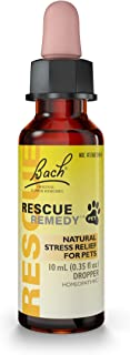 RESCUE REMEDY PET Dropper, 10mL – Natural Homeopathic Stress Relief Drops for Pets