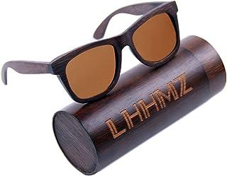 8e6eb8d820 LHHMZ Gafas de sol polarizadas para hombre y mujer Gafas de madera ligeras  hechas a mano