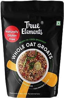True Elements Oat Groats 500g - Gluten Free Oats, Healthy Breakfast, Plain Oats