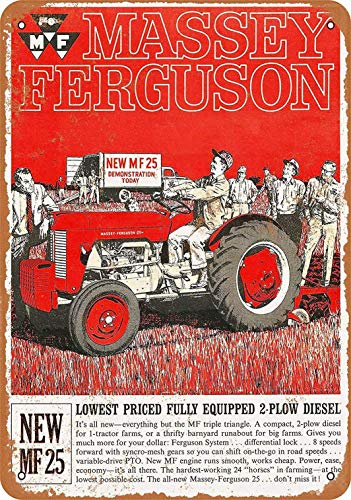 Massey Ferguson Pintura de Hierro Retro Metal Decoración de la Pared Cartel de Chapa Placa de la Vendimia Pegatinas Regalo Bar Decoración para el hogar