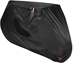 Color Rain Time Bike Cover for Outdoor Bicycle Storage - XL - Heavy Duty Ripstop Material, Waterproof & Anti-UV - Protection from All Weather Conditions for Mountain & Road Bikes (Black, XL)