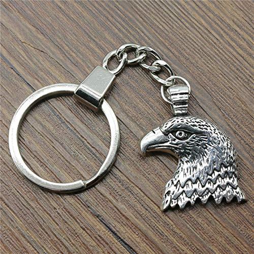 YTBUBOR Llavero de Moda Llavero de Metal Llavero Regalo 2 Colores Bronce Plata Color águila 33x29 mm Colgante