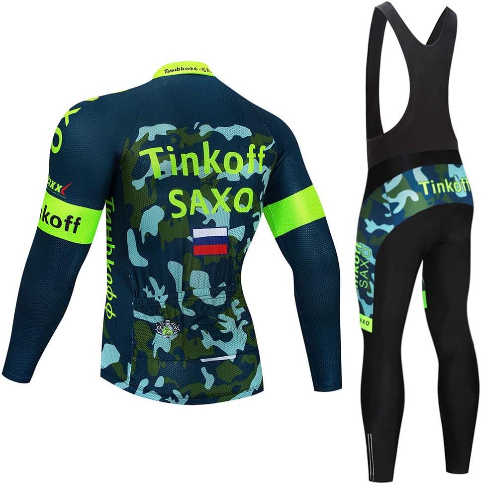 Pantalon 3D Gel Coussin Solide Tenue VTT Combinaison V/élo Jersey Respirant S/échage Rapide Cycliste Homme Printemps//Automne//Printemps MTBHW Maillot Cyslisme Manches Longue