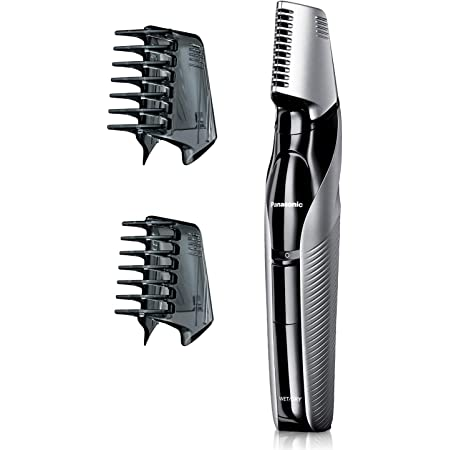 Panasonic Electric Body Groomer and Trimmer for Men ER-GK60-S, Cordless, Showerproof with 3 Comb Attachments, Washable