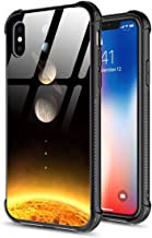 iPhone Xs Case/iPhone X Case,9H Tempered Glass Back Cover+Soft Silicone TPU Shock Absorption Bumper Protective Case Compatible for iPhone iPhone (Starry Sky, iPhone XR)