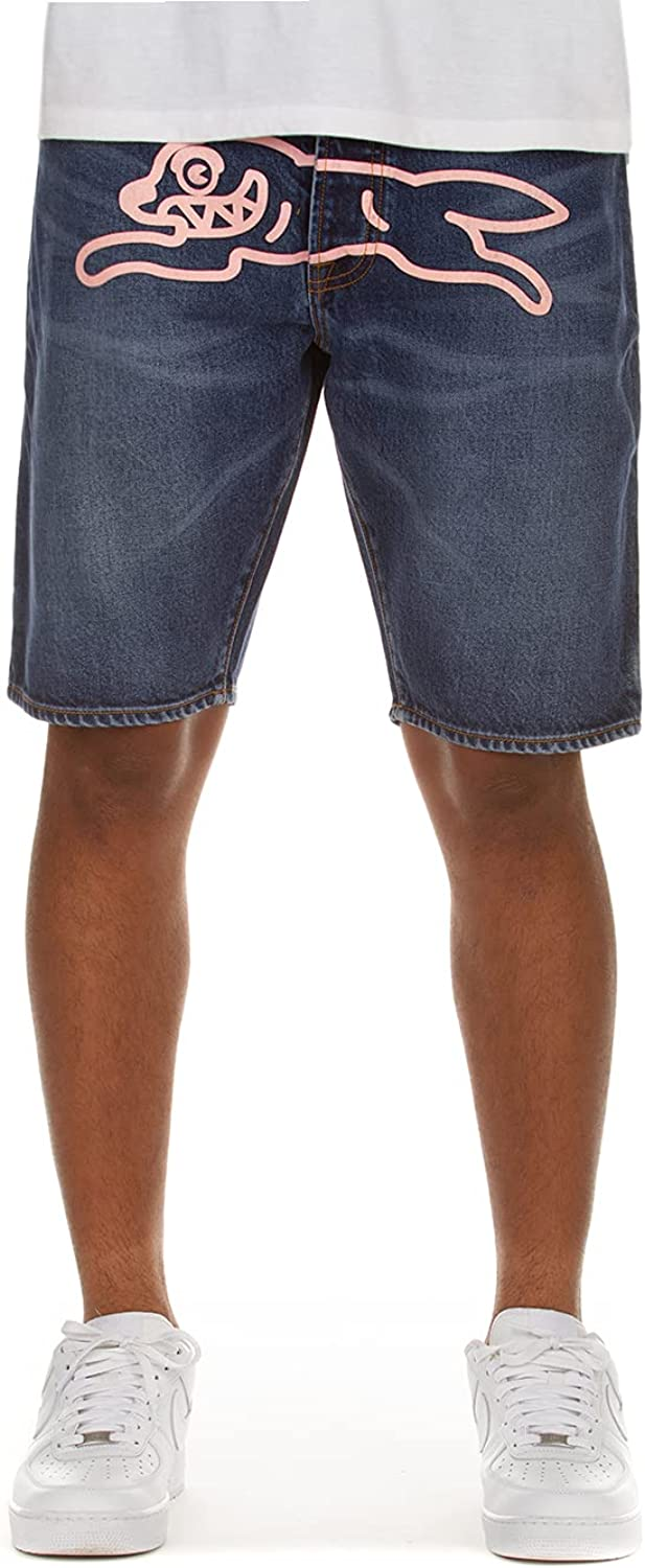 ICECREAM Clothing Pink Jean Men's Industry No. 1 Sports Workou Fixed price for sale Shorts