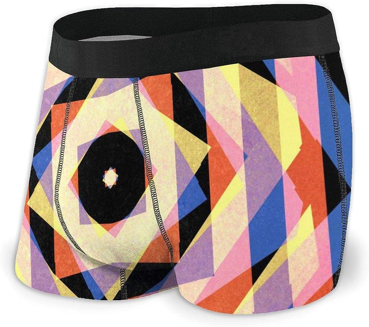 Randolph Wordsworth Mens Boxer Briefs Mulicoloured Striped Vector Breathable Underwear