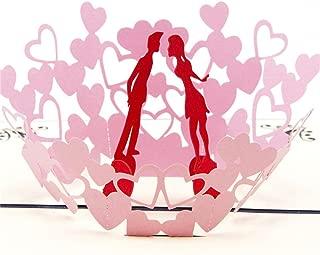 Holzkary Pop Up Card, 3D Card, Greeting Card, Mother's Day Card, Birthday Card, Valentine Card, Anniversary Card(A.)