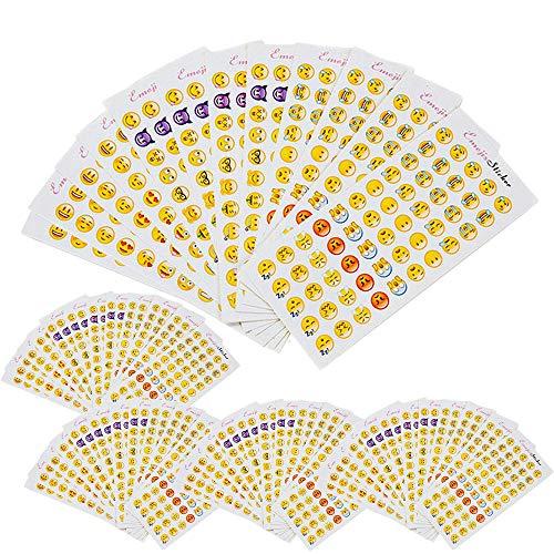 60 Blätter lustige Emoji Aufkleber für Kinder, 3300 Emoji Emoticons Decor für Briefe Geschenkkarten Grüße vom iPhone Facebook Twitter für Handy, Laptop, Notebook Dekoration | Smiley Spielzeug