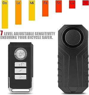Richer-R Candado de Bicicleta,Alarma de Control Remoto Inalámbrico, Alarma de Bicicleta Alarma Cerradura de Seguridad, Vehículo de Moto Sirena de Alarma Antirrobo Alta Seguridad para la Bicicleta