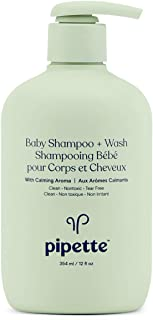 Pipette Baby Shampoo + Body Wash with Renewable Plant-Derived Squalane (Calming, 12-Fluid-Ounce)