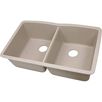 Highpoint Collection 50 50 Double Bowl Granite Composite Undermount Kitchen Sink In Sand Amazon Com