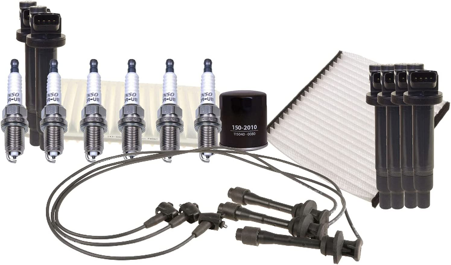 Ignition Tune Up 6 U-Groove Spark w Set Compatible Sale Wire Excellence kit Plug