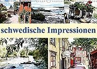 schwedische Impressionen (Wandkalender 2022 DIN A3 quer): Schweden´s laendliche Idylle begleitet Sie in 12 digitalen Gemaelden durch das Jahr. (Monatskalender, 14 Seiten )