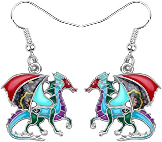 Flying Dragon Ear Cuff with Chain Linked CZ Stud Earring