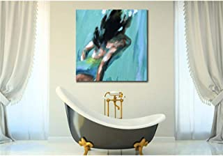 Abstract Oil Painting,Hand painted Figure oil painting modern art abstract swimming Lady paintings woman beautiful artwork...