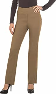Bootcut Dress Pants for Women -Stretch Comfy Work Pull on Womens Pant