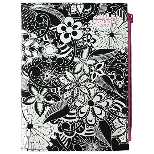 """AT-A-GLANCE Weekly / Monthly Planner / Appointment Book 2017, 4-7/8 x 8"""", Black/White (689-200)"""
