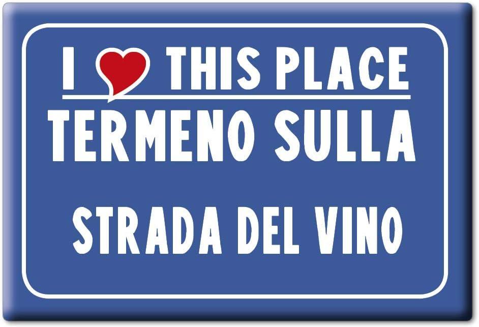 Enjoymagnets TERMENO Sulla Strada del Vino Souvenir IMANES DE Nevera Trentino Alto Adige IMAN Fridge Magnet Corazon I Love (VAR. CARTELLO)