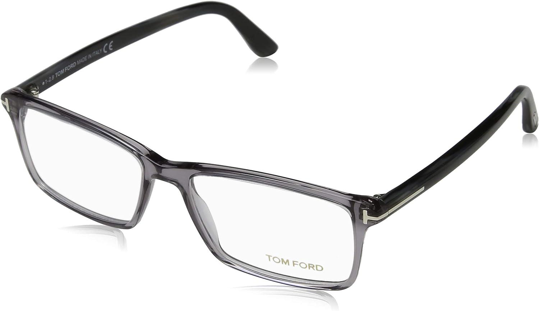 TOM Ranking TOP8 San Diego Mall FORD Men's TF 5408 Transp. Grey Eyeglasses Rectangular 56mm