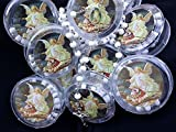 YRP First Communon Baptism White Scented Rosary Favor - 12 Guardian Angel Rosaries with Individual Gift Box