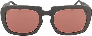 نظارات شمسية مربعة للجنسين من كالفن كلاين باطار اسود مطفا