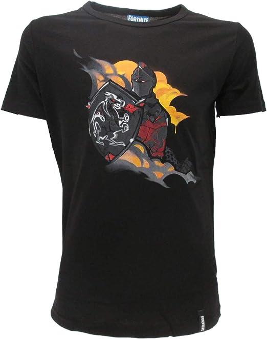 Epic Games Camiseta original de Fortnite para niño, color negro, camiseta negra