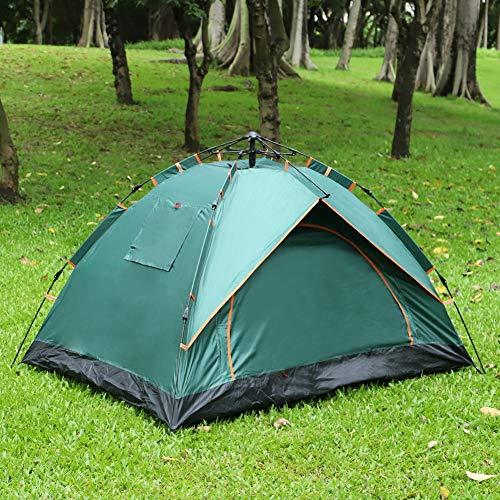 Kuppelzelt Outdoor Zelt für 1-2 Personen Wasserdicht&Winddicht Schnellöffnungs Wurfzelt mit Tragetasche für Trekking Festival Sport Backpacking Picknick (Green)