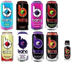 VPX Bang Sampler 2- Unicorn, Peach Mango. Frose Rose, Cherry Blade Lemonade, Pinacolada, Bangster, Purple Haze, Citrus Twist (Pack of 8) and Bang Unicorn Shot 3fl.oz