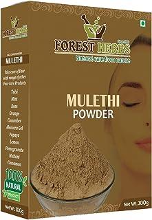 Forest Herbs 100% Organic Licorice Root Powder - Mulethi Powder (Glycyrrhiza Glabra)/Yastimadu Powder for Face, Hair Care ...