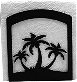 Iron Palm Trees Table Napkin Holder - Heavy Duty Metal Serviette Dispenser, Cocktail Napkin Holder