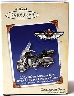 HARLEY DAVIDSON #5 2003 Hallmark Ornament QX8169 100th Anniversary Ultra Classic Electric Glide