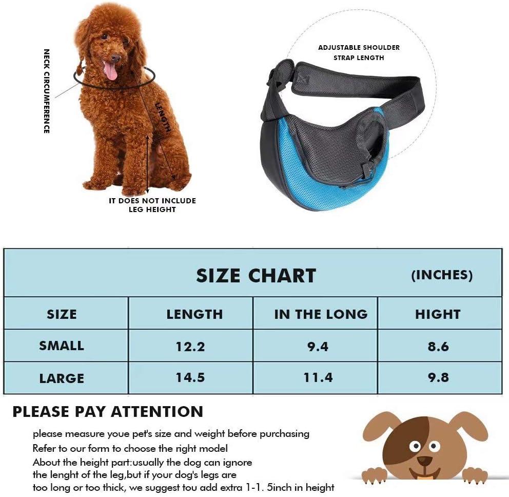 Rednut Pet Carrier,Hand Free Carrier Breathable Mesh Travel Safe Sling Bag Single Shoulder Carrier Pet Padded Strap Tote Bag for Small Dog Cat Puppy