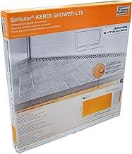 "Schluter Kerdi 36"" x 72"" Linear Shower Tray Wall Drain Placement 2-5/16"" End Height"