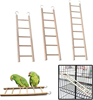 Cozy Birdcage Climbing Ladder Toys Wooden Ladder with Five/Six/Eight Rungs for Parrots Bird Canary Caged Small Bird Perch ...