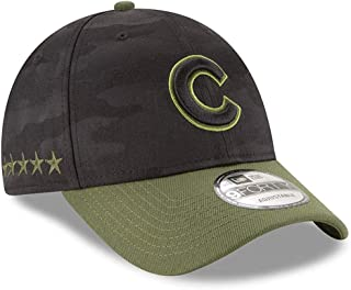 New Era Authentic Chicago Cubs Black 2018 Memorial Day 9FORTY Adjustable Hat: OSFM