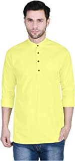 U-TURN Men's Cotton Short Kurta
