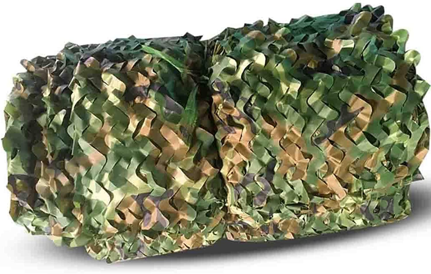 DPPAN Military Camouflage Netting, Sunscreen Nets for Woodland Camping Shooting Hunting Sunshade Hide Swimming Pool,Green_8x10m(26x33ft)