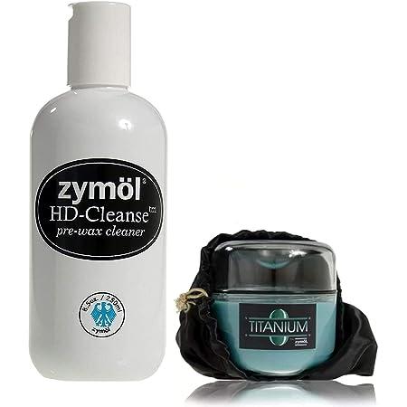 [正規代理店お得セット] Zymol (ザイモール) Titanium Glaze チタニウムグレイズ Z-155 8oz/227g HD-Cleanse HDクレンズ Z-201 8.5oz/250ml カルナバ蝋 [おまけ・プレゼント付]
