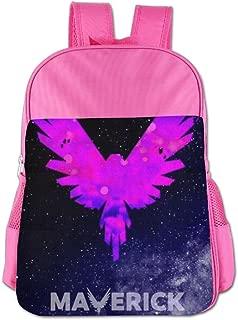 Logan Paul Logo Maverick Pink Kids School Backpack Carry Bag For Girls Boys
