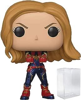 Marvel: Avengers Endgame - Captain Marvel Funko Pop! Vinyl Figure (Includes Compatible Pop Box Protector Case)