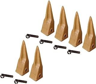 6 CAT Style Backhoe Bucket Tiger Rock Teeth w Pins & Retainers- 1U-3202TL