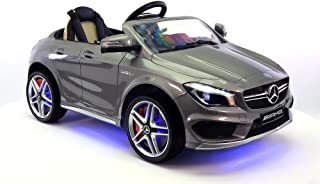2018 12V Mercedes CLA45 Electric Powered Battery Operated LED Wheels Kids Ride on Toy Car with Parental Remote Control (Gray)