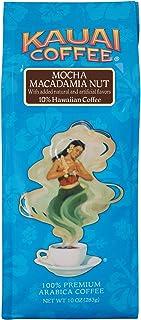 Kauai Hawaiian Ground Coffee, Mocha Macadamia Nut Flavor (10 oz Bag) – 100% Premium..