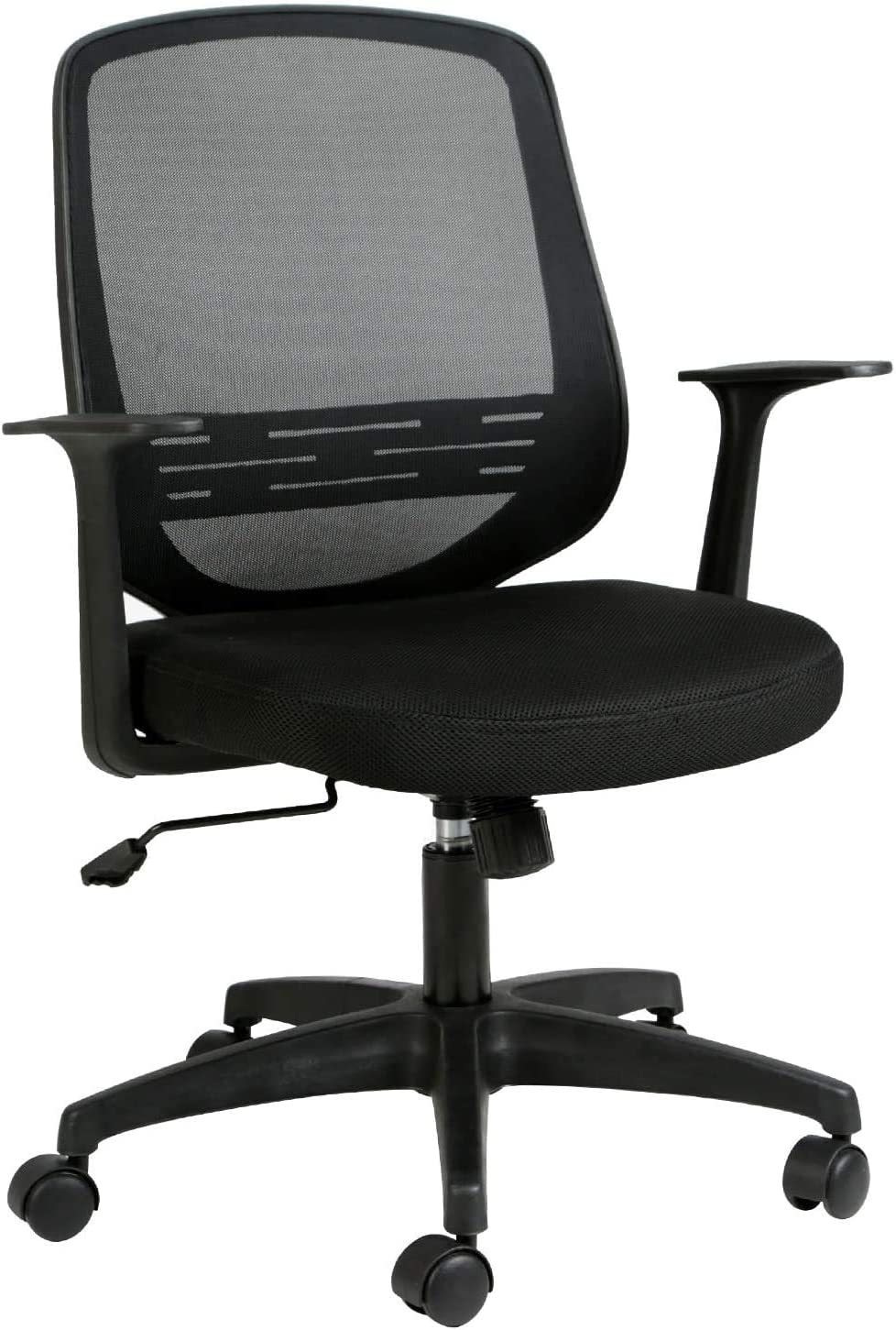 Hbada Bürostuhl Ergonomischer Schreibtischstuhl Drehstuhl Mesh Stuhl Arbeitsstuhl leicht Stuhl mit Anhebbare Lordosenstütze Schwarz