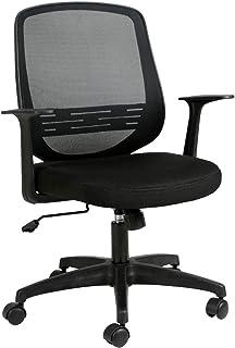 Hbada Chaise de Bureau avec Support Lombaire Réglable, Siège de Bureau en Maille, Fauteuil Ergonomique Hauteur Réglable, Noir