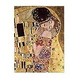 Poster - Gustav Klimt Der Kuss 20x30 cm ca. A4 - Alte